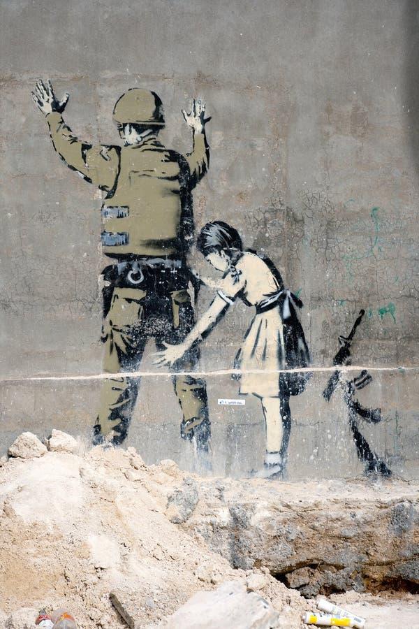 bethlehem grafitti royaltyfri fotografi
