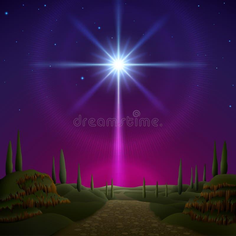 bethlehem gwiazda royalty ilustracja