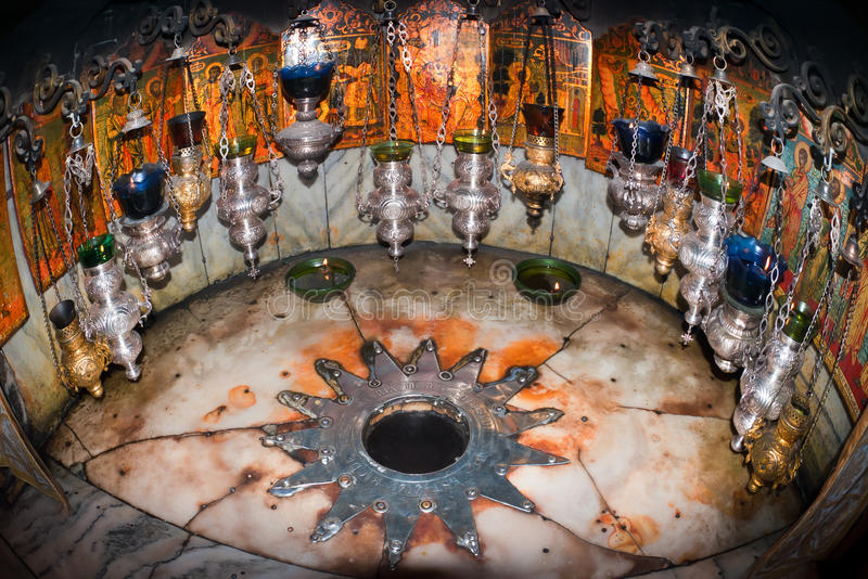 Bethlehem Kerk van de Geboorte van Christus. royalty-vrije stock foto's
