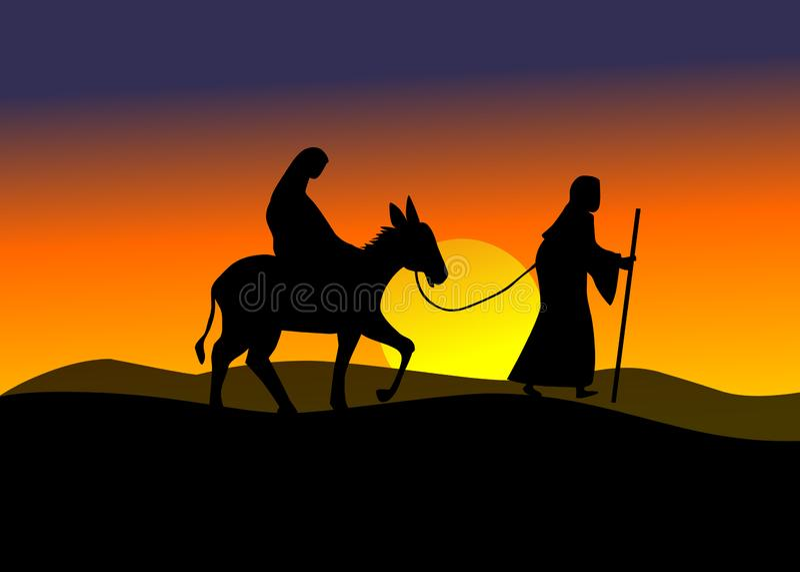 bethlehem podróż ilustracja wektor