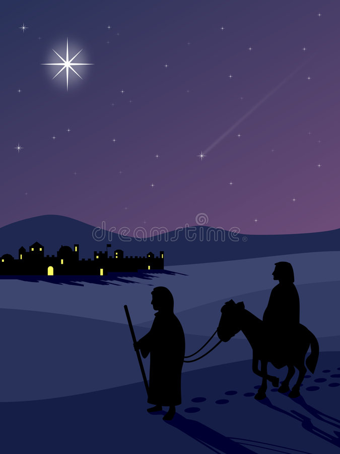 bethlehem route till royaltyfri illustrationer
