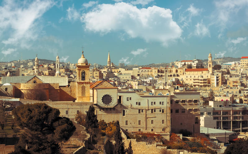 Bethlehem: view of historical part royalty free stock image