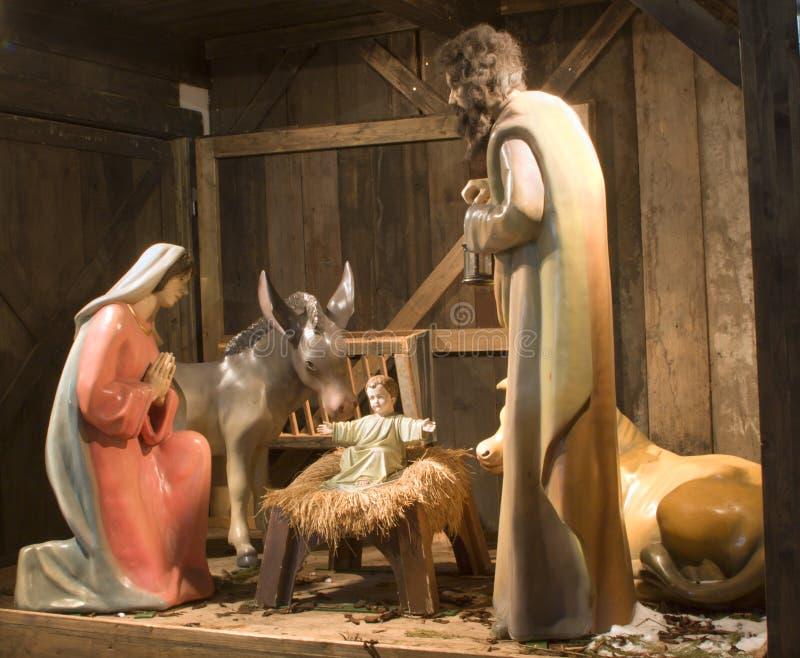 Bethlehem from wienna christma-market stock images