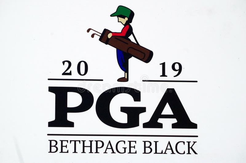 Bethpage Black Golf Course. In preparation for the upcoming 2019 Players Championship to be hosted by  the Bethpage Black Course.  As of now Tiger Woods is the royalty free stock photo