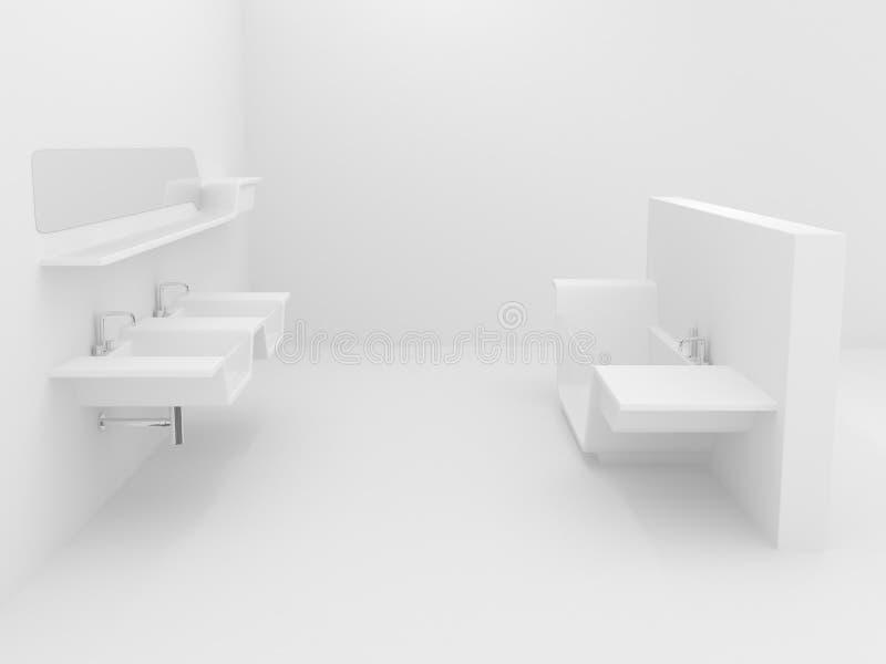 bethroom λευκό στοκ φωτογραφίες