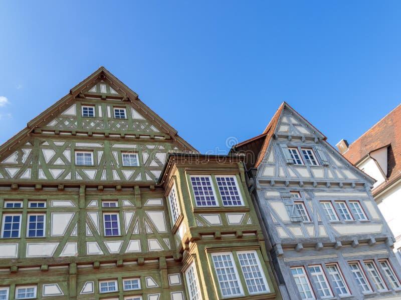 Betimmerd huis in Boeblingen Duitsland stock afbeelding