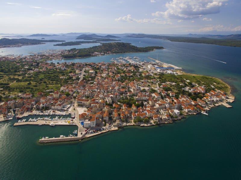 Betina, Islad Murter, Chorwacja zdjęcia stock