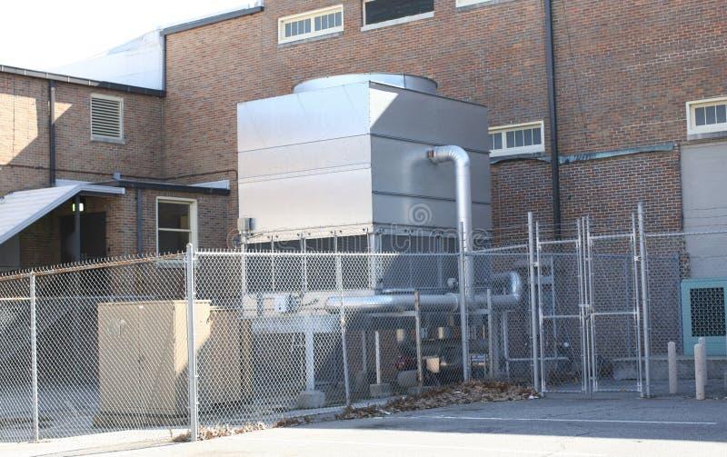 Betingande enheter för industriell luft arkivfoton