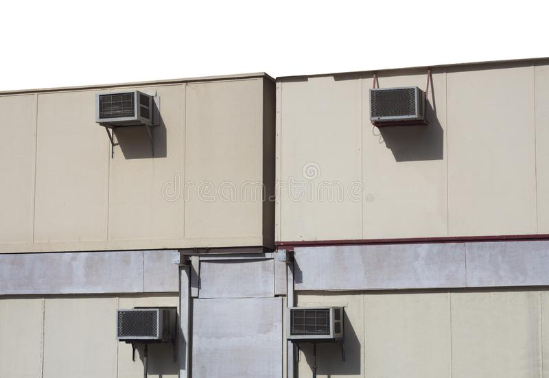 Betingande utrustningar för luft på yttre byggnad arkivfoto