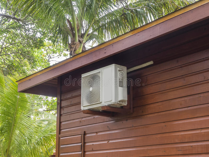 Betingande värmepump för luft royaltyfri fotografi