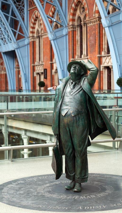 betjeman John sir statua obraz stock