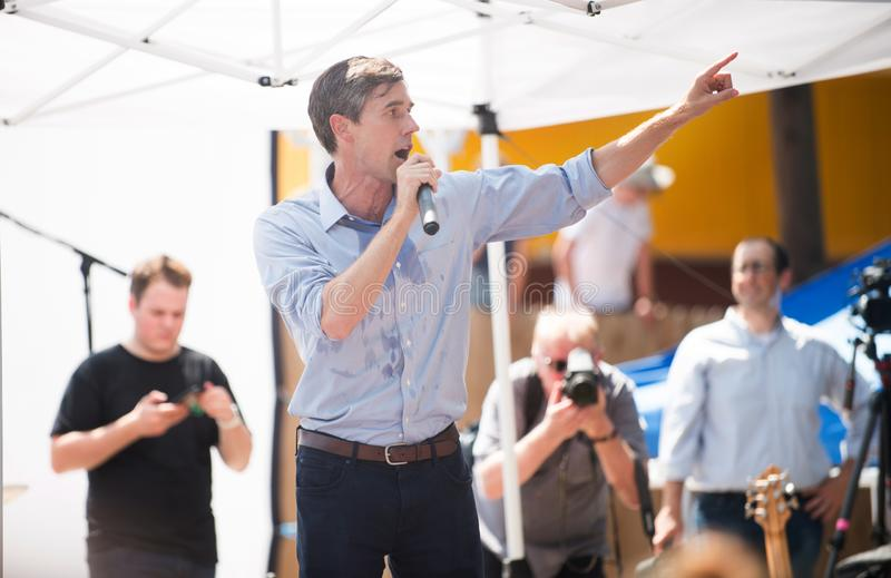 Beto O ` Rourke民主党得克萨斯为参议院竞选 免版税库存照片
