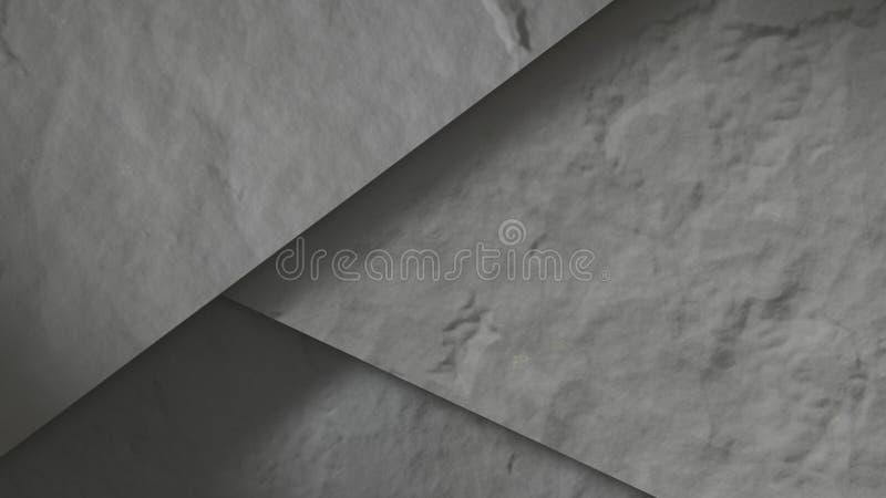 Beton dryluje abstrakt 3 d czynią royalty ilustracja