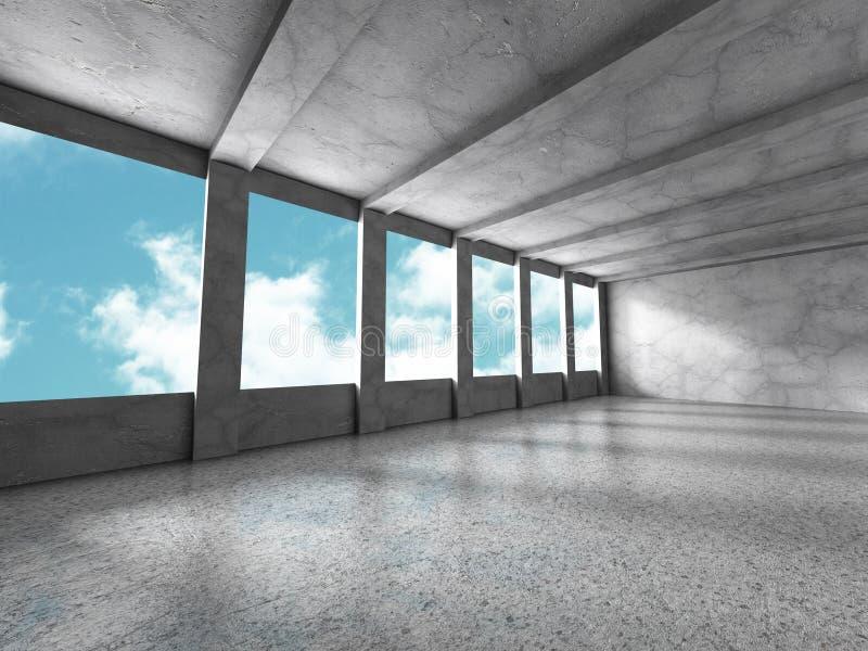Download Betongväggar Tömmer Ruminre Abstrakt Arkitektur Med S Stock Illustrationer - Illustration av passage, konkret: 78731879