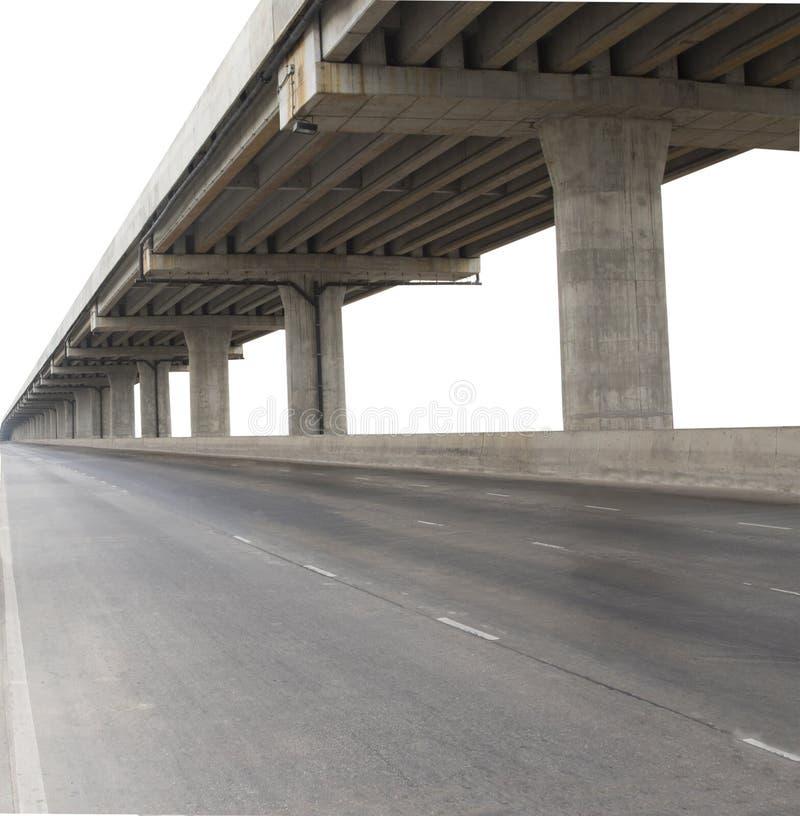 Betonkonstruktion der Zementbrücke lokalisierte weißen Hintergrund wir stockfotos