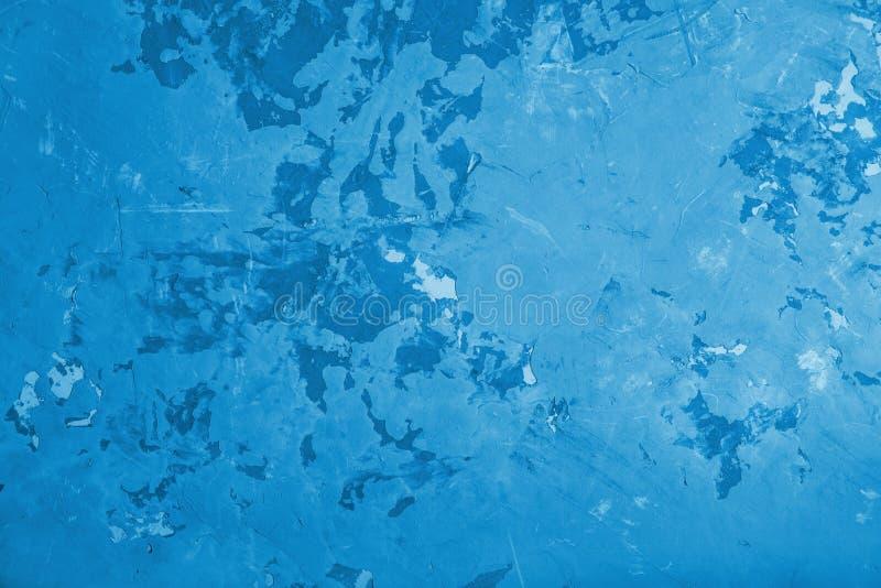 Betonmauer-Beschaffenheitshintergrund des abstrakten Schmutzes blauer lizenzfreies stockbild
