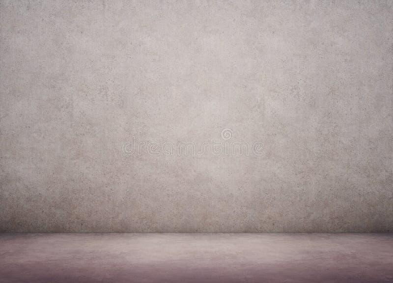 Betonmauer und Boden lizenzfreie abbildung