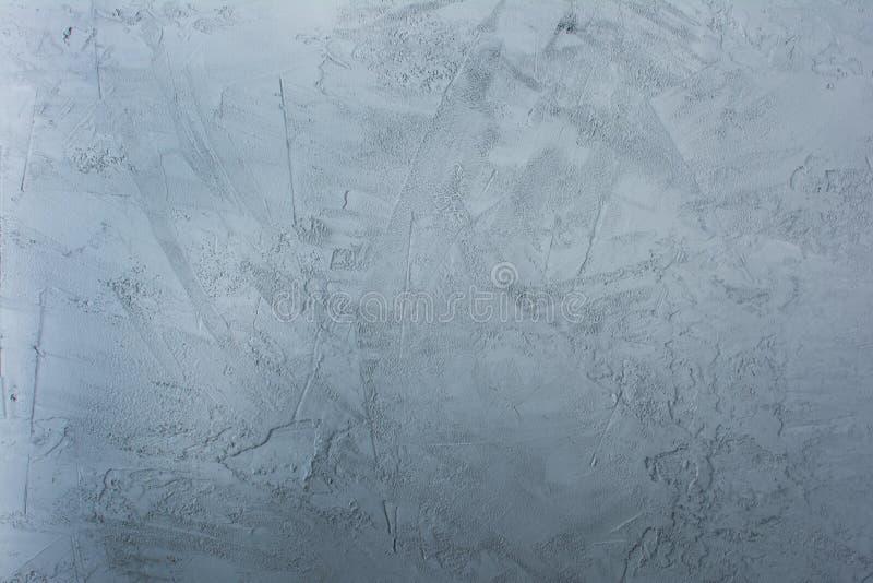 Betonowa błękit ściana z pęknięciami Tło z teksturą obrazy royalty free