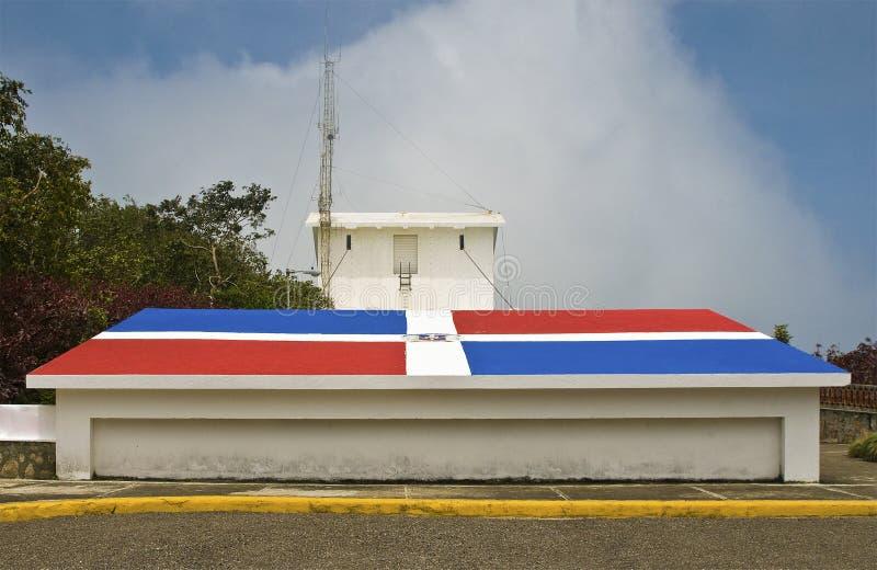 betonowa domincan chorągwiana republika fotografia stock