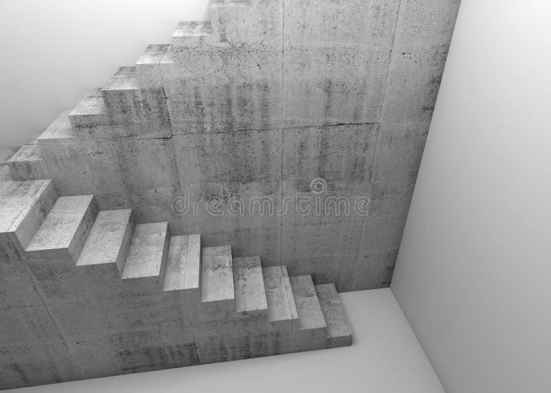 Betonowa schody instalacja 3d obrazy stock