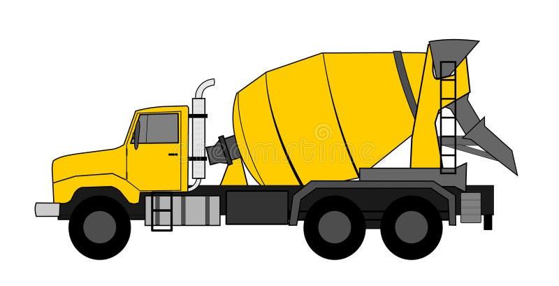 betonowego melanżeru ciężarówka ilustracja wektor
