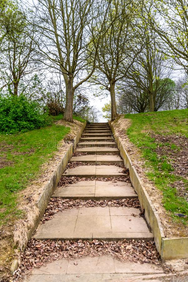 Betonowego progu footpath w Northampton England uk i obraz royalty free