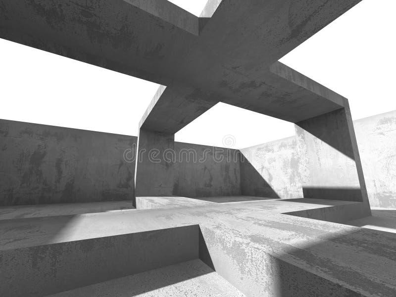 Betonowy architektury tło Abstrakcjonistyczny budynku projekt royalty ilustracja