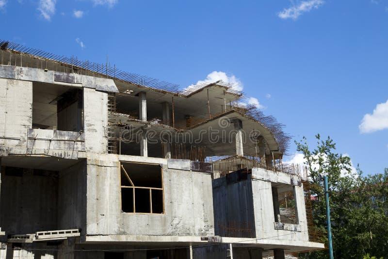 Betonowy formwork na budowie zdjęcie royalty free