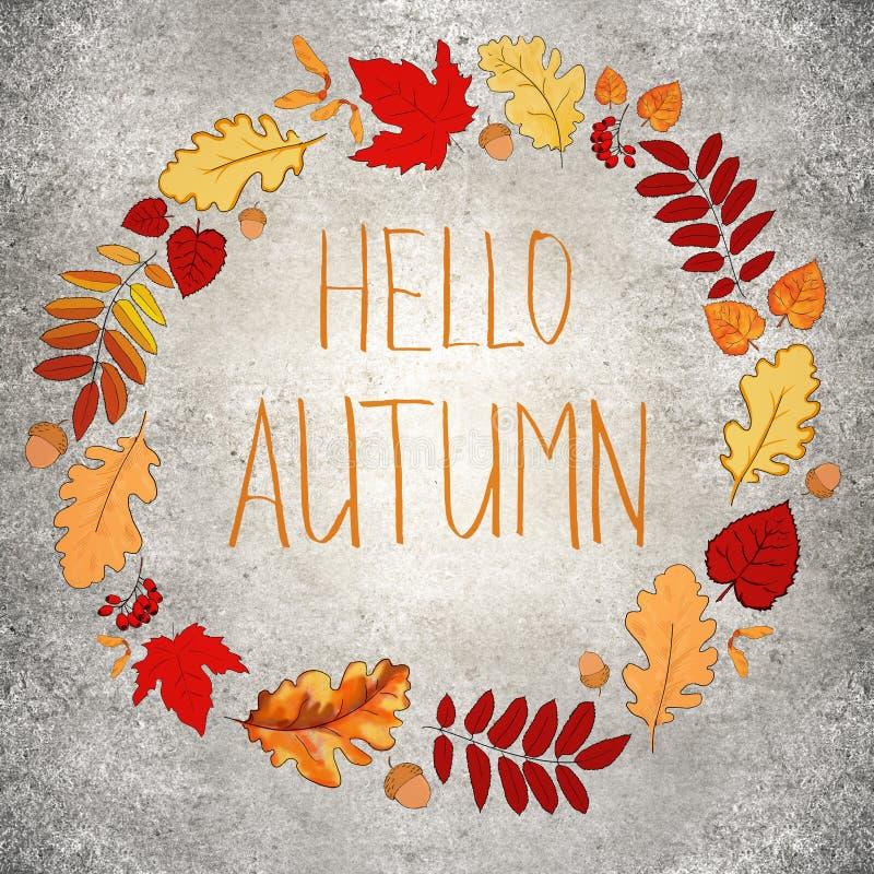 Betonowy jesieni tło zdjęcie stock