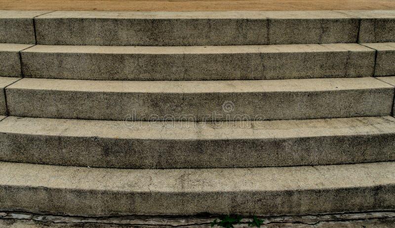 Betonowy schody z małym żwirem fotografia stock