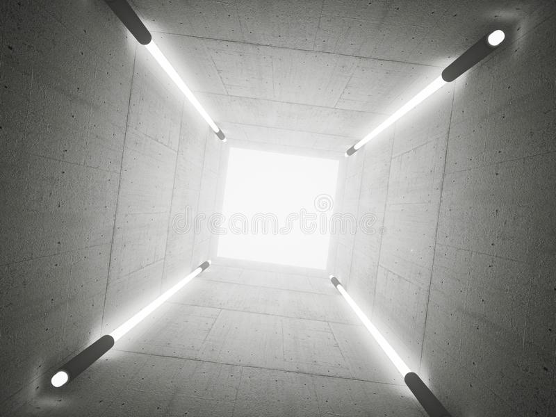Betonowy tunel ilustracja wektor