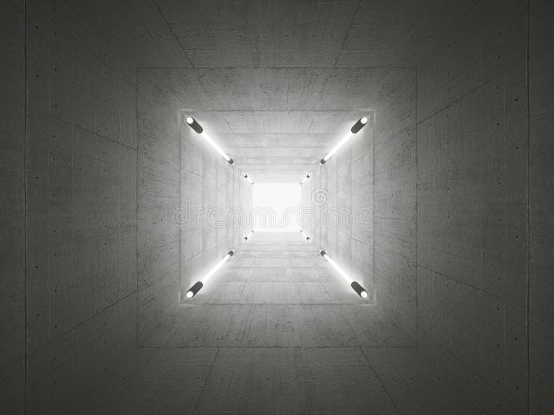 Betonowy tunel ilustracji