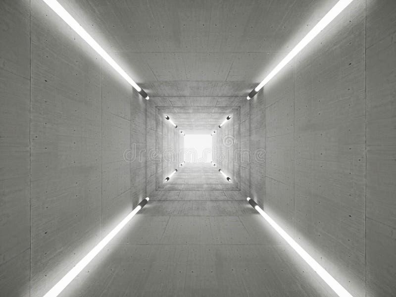 Betonowy tunel royalty ilustracja