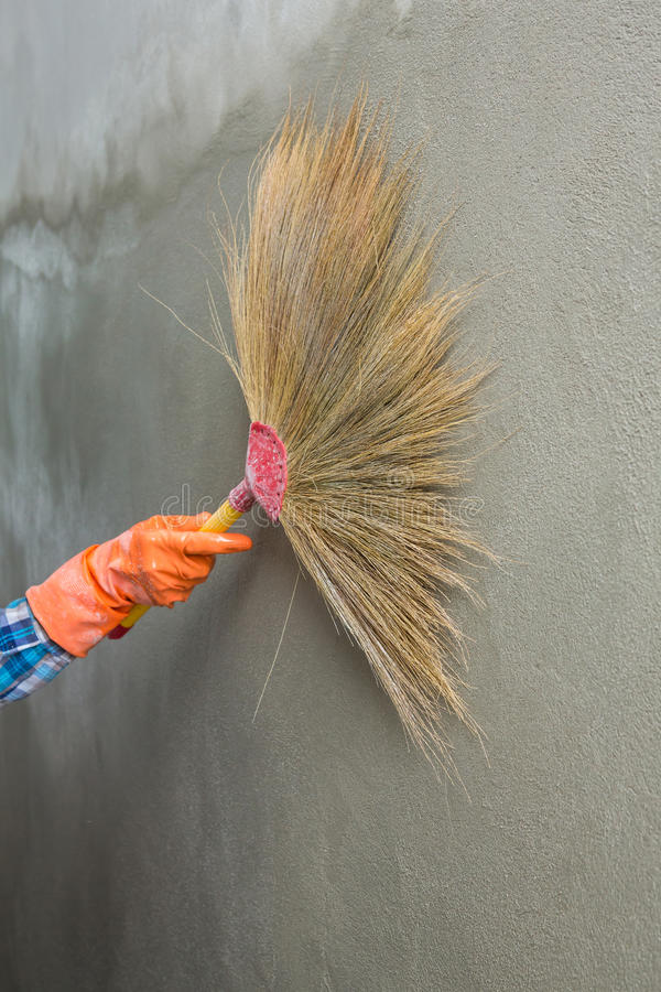 Betonowy tynku cleaning zdjęcie stock