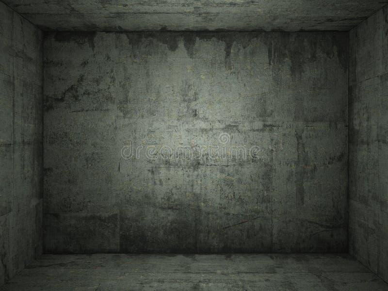 betonowy zielony pokój zdjęcia stock