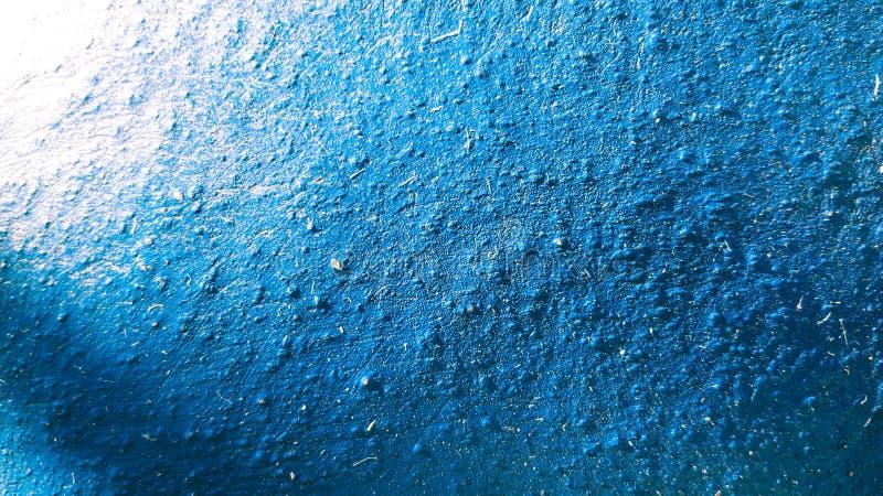 Betonowy zmrok - błękitna Szorstka tekstury powierzchnia fotografia stock