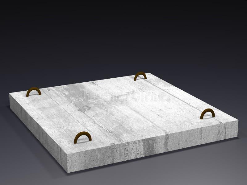 Betonplatte auf einem dunklen Hintergrund Wiedergabe 3d vektor abbildung