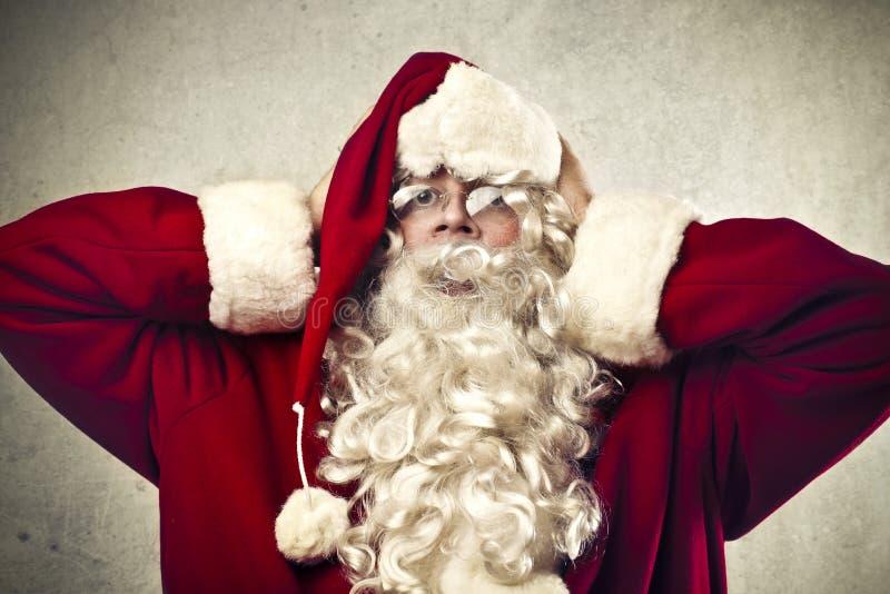 Betonter Weihnachtsmann lizenzfreies stockfoto