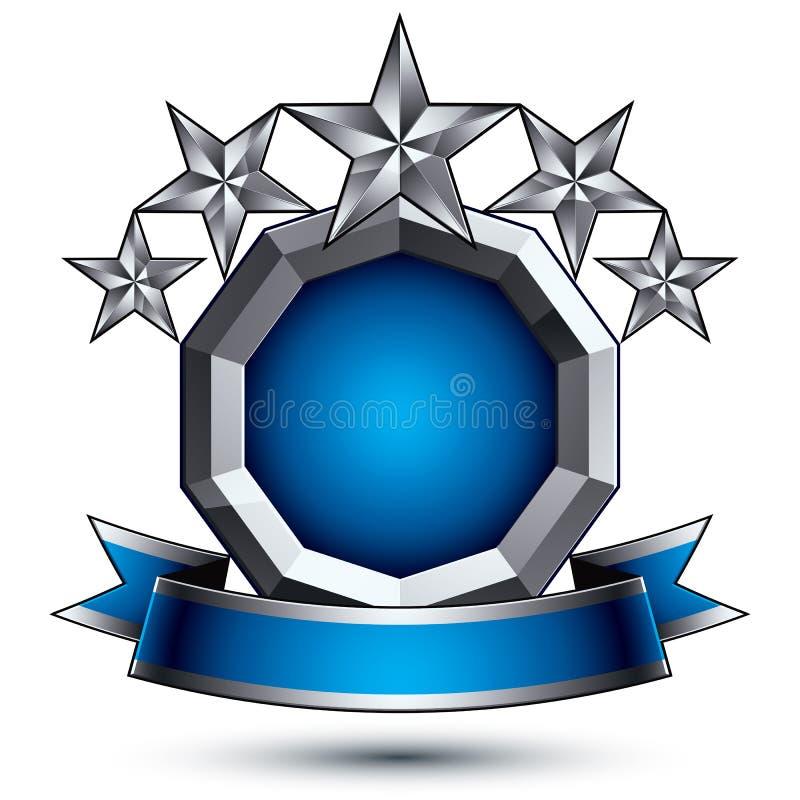 Betoverend vectormalplaatje met zilveren sterren vector illustratie