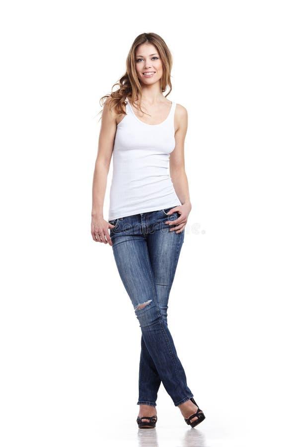 Betoverende jonge vrouw stock afbeelding