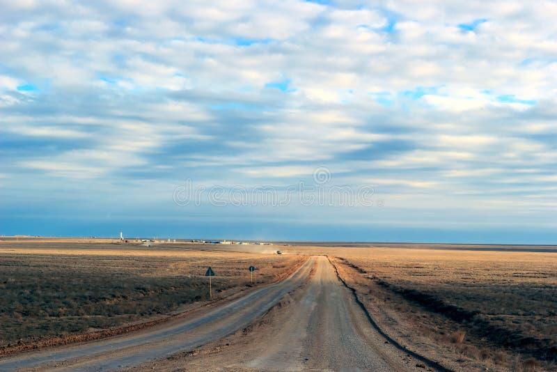 Betpakdala干草原南哈萨克斯坦 库存照片