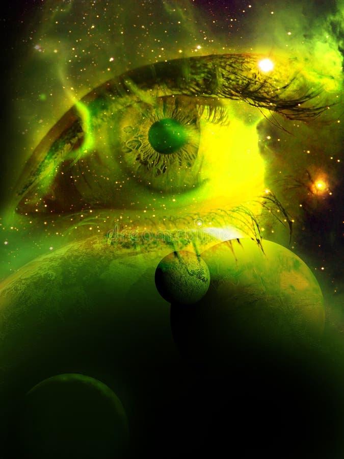 Betrachten des Universums lizenzfreie abbildung