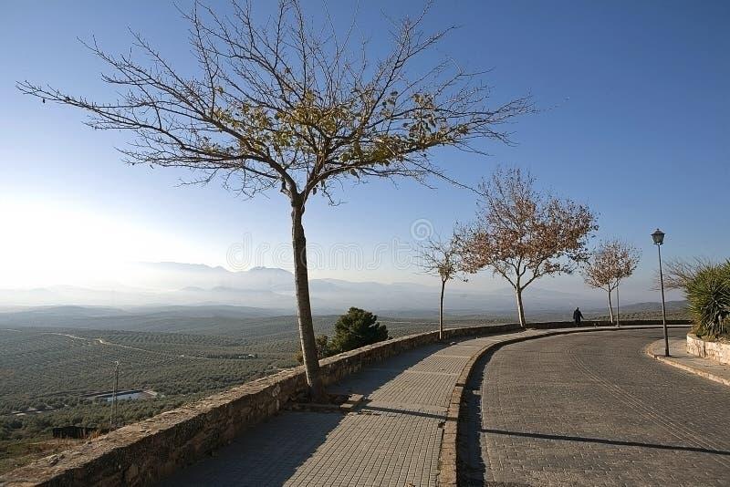 Betrachten Sie aus Ubeda heraus Sonnenuntergang, Stadterbe der Menschlichkeit, Antonio Muñoz Molina-Weg lizenzfreies stockfoto
