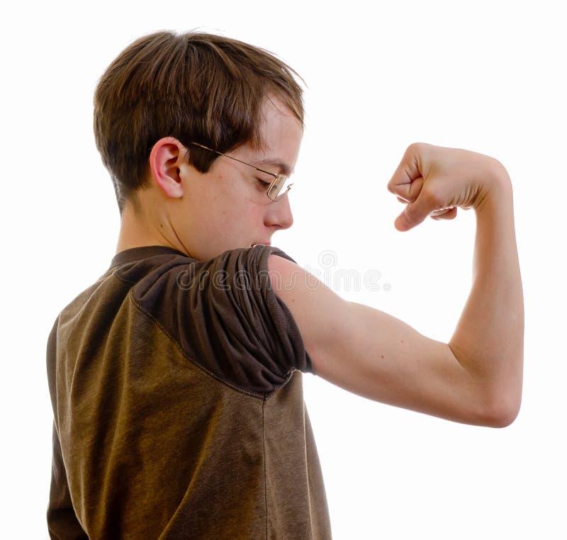 Betrachten Sie meine Muskeln stockfotografie