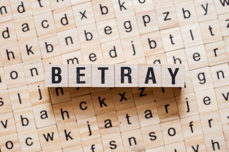 Betray word concept stock photo