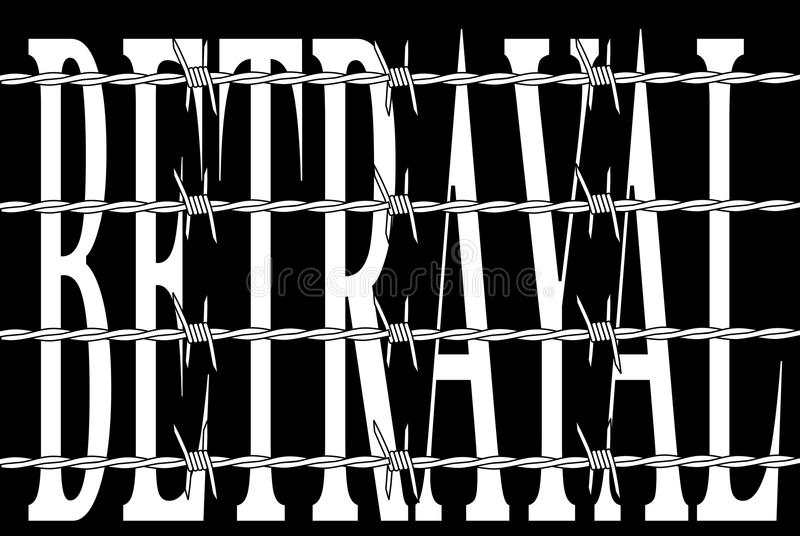 betrayal royalty-vrije illustratie