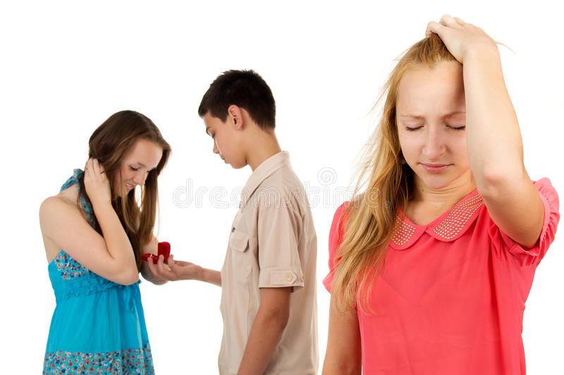 Betrayal of a loved one. Stress, betrayal loved one isolated royalty free stock images