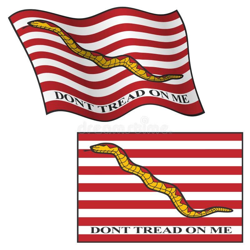 Betreed op me geen Vlag, die en vlak, Vector Grafische Illustratie golven stock illustratie