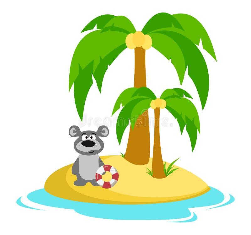 Betreffen Sie die Insel Baden Sommer Sea ferien vektor abbildung