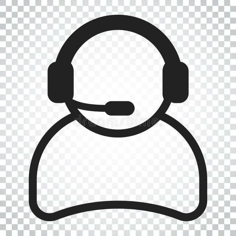 Download Betreiber Mit Mikrofonvektorikone Betreiber In Call-Center IL Vektor Abbildung - Illustration von audio, support: 96935992
